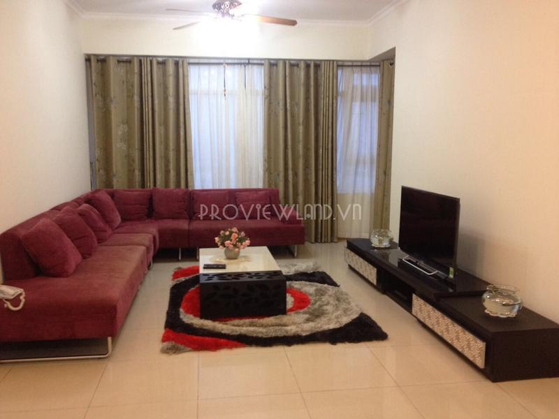 Căn hộ cho thuê Saigon Pearl 3 phòng ngủ đầy đủ nội thất có diện tích 135m2