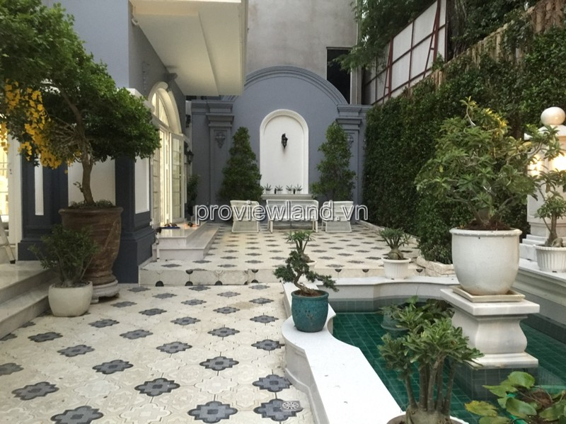 Cho thuê Villa Thảo Điền nằm khu Compound đẹp DT 400m2 4PN full nội thất