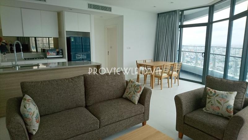 City Garden cho thuê căn hộ 2 phòng ngủ tại Bình Thạnh có thiết kế sang trọng