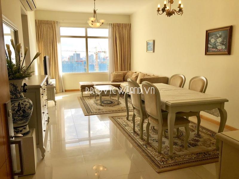 Saigon Pearl căn hộ cho thuê tại tháp Ruby2 gồm 2 phòng ngủ có view thoáng đẹp