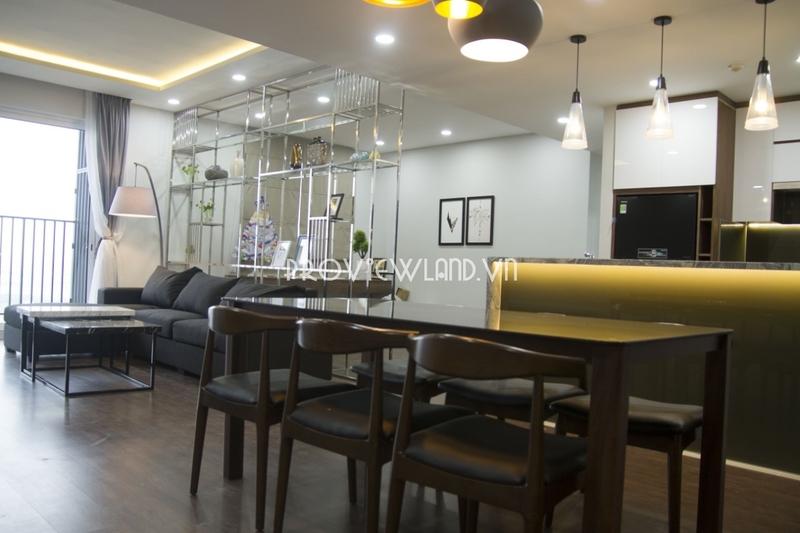Căn hộ cần cho thuê tại Vista Verde căn góc 3 phòng ngủ nội thất hiện đại