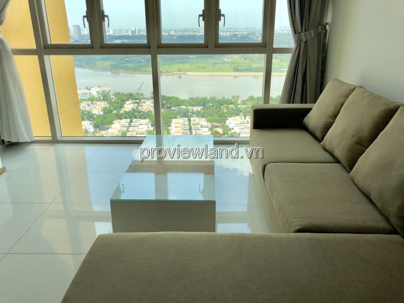 Cho thuê căn hộ 2 phòng ngủ tại The Vista 101m2 view sông