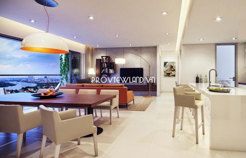 Bán căn hộ 4 phòng ngủ tầng cao view sông tại Gateway Thảo Điền