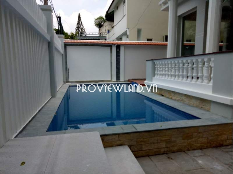 Cho thuê biệt thự khu Thảo Điền 1 trệt 2 tầng có sân vườn hồ bơi sân thượng