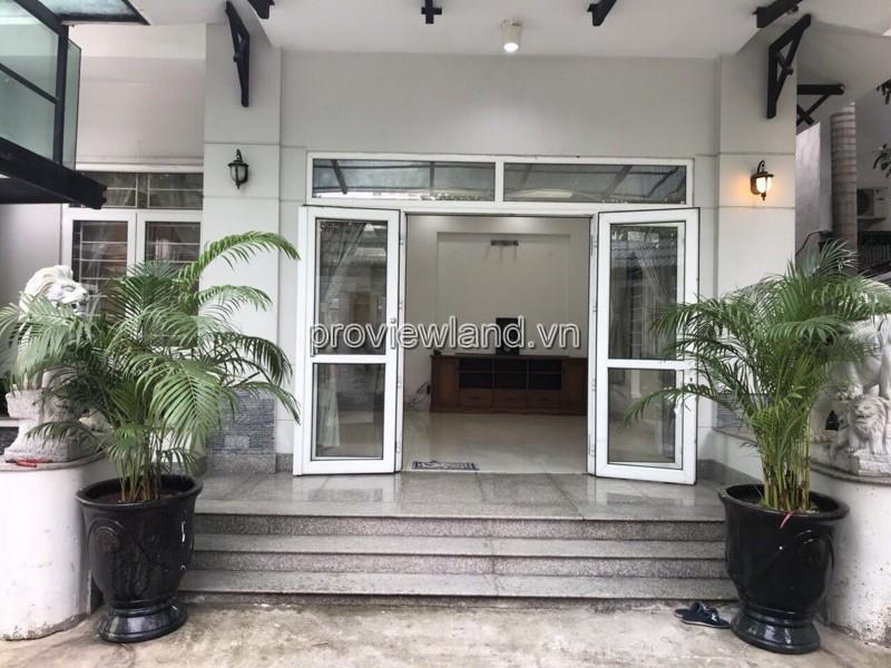 Bán biệt thự Fideco Thảo Điền Quận 2 300m2 1 trệt 2 lầu 4 phòng ngủ