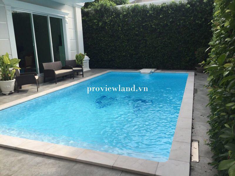 Cho thuê BT 1 trệt 2 lầu 400m2 có hồ bơi tại đường Nguyễn Văn Hưởng Q2