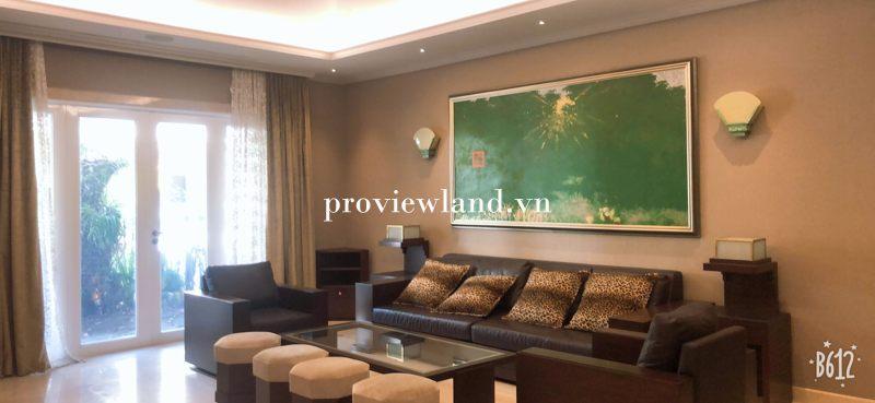 Cho thuê Villa Riviera Quận 2 DT 450m2 3 tầng 5 phòng ngủ có sân vườn