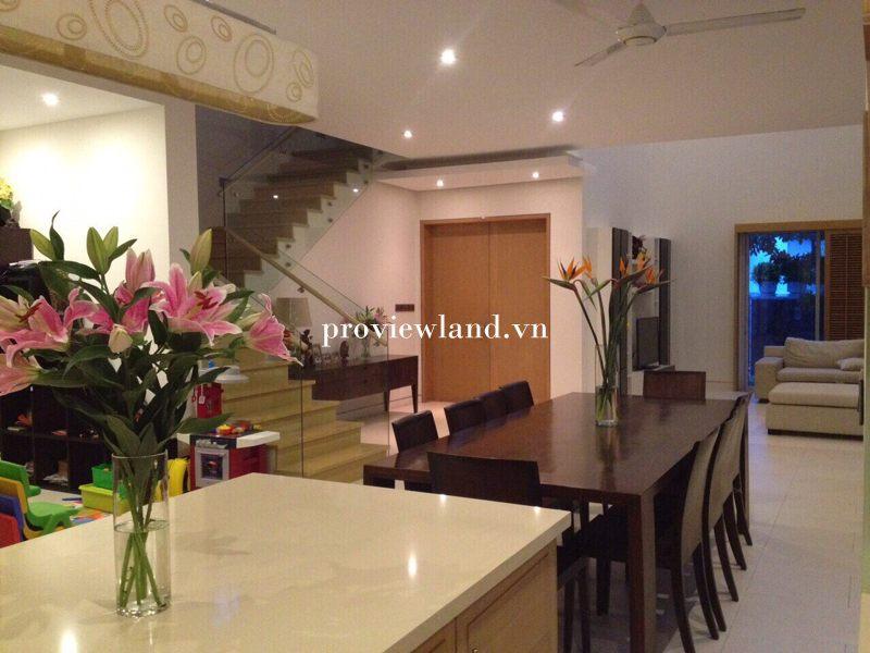 Cho thuê biệt thự Villa Riviera Quận 2 DT 450m2 1 trệt 2 lầu 5 phòng ngủ