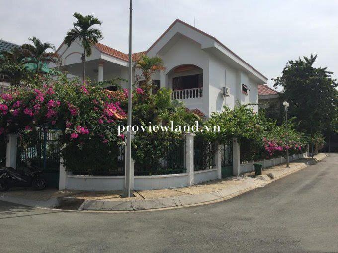 Cho thuê Green feild villa Trần Não Quận 2 1 trệt 2 lầu 600m2 5 phòng ngủ