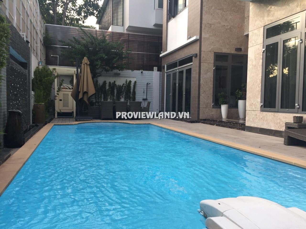 Cho thuê biệt thự đường Nguyễn Văn Hưởng 1 trệt 2 lầu DT 1150m2 có hồ bơi và sân vườn