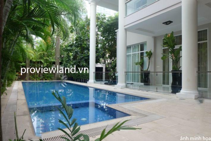 Bán biệt thự Thảo Điền 1 trệt 2 lầu có tổng diện tích 1600m2 sân vườn thoáng mát