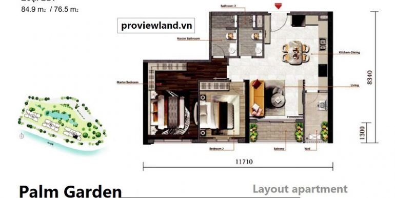 Mat-bang-can-ho-2PN-palm-garden-layout-2bedroom