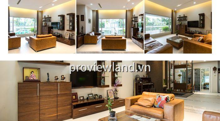 Biệt thự Saigon Pearl cho thuê 7x14m 5 phòng ngủ nội thất siêu đẹp