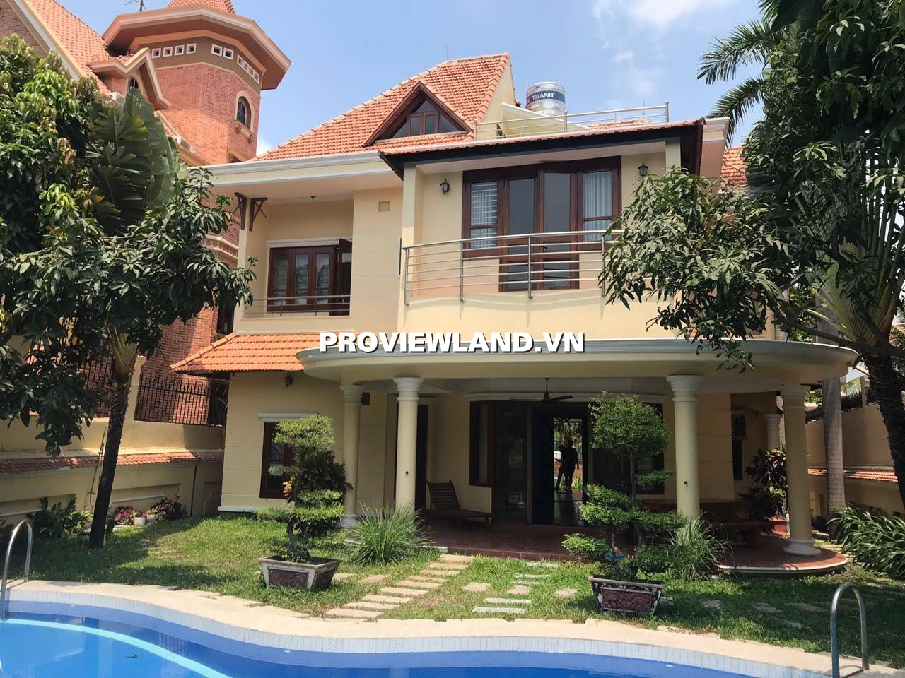 Cho thuê Villa Thảo Điền có hồ bơi diện tích 450m2 1 trệt 1 lầu 5 phòng ngủ