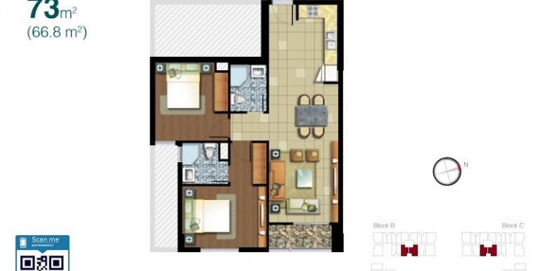 Lexington-Residence-layout-2pn-73m2