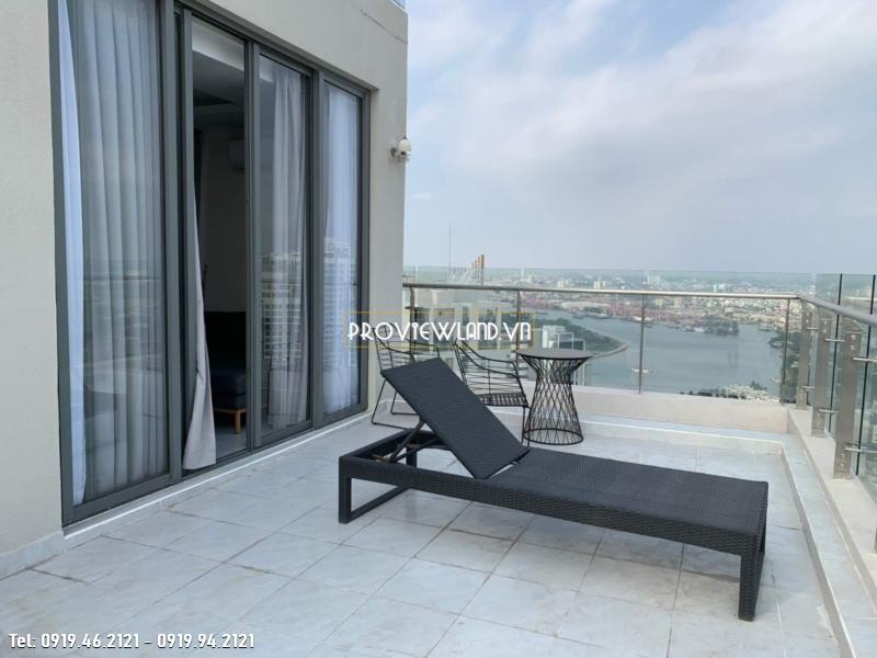 Penthouse Masteri Thảo Điền Block T5 cho thuê 3 phòng ngủ view đẹp