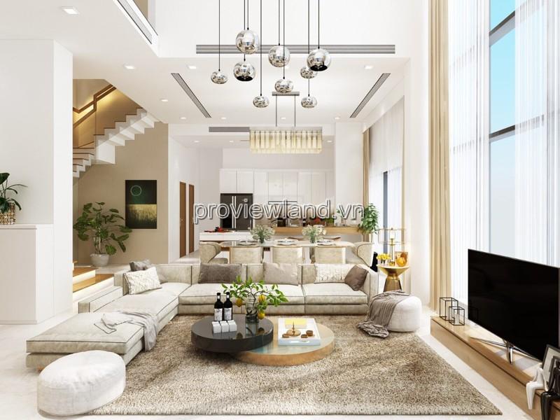 Căn hộ Diamond Island Sky Villa cho thuê 4 phòng ngủ 560m2 2 tầng