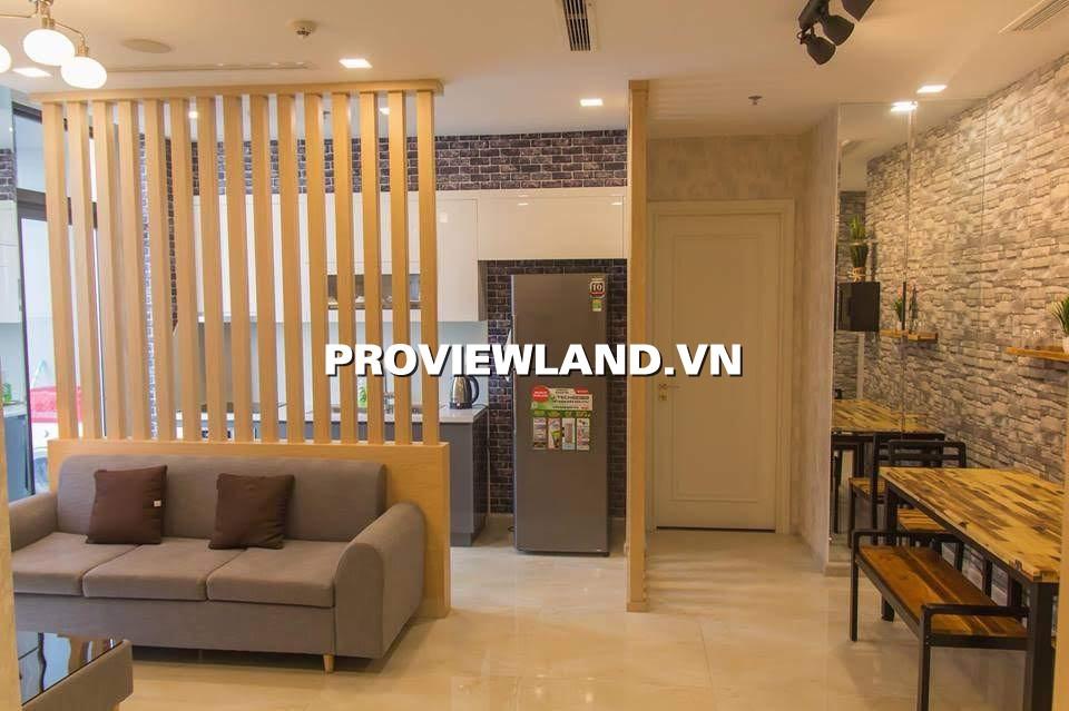 Cho thuê căn hộ dịch vụ Vinhomes Bason 2 phòng ngủ view sông nội thất cao cấp