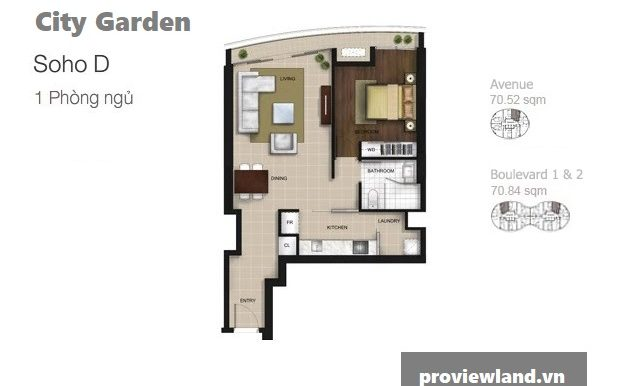 City-garden-layout-Mat-bang-Boulevard-Avenue-1pn-71m2