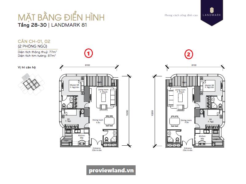 Vinhomes-Central-Park-Landmark81-layout-mat-bang-can-ho-2PN-78m2