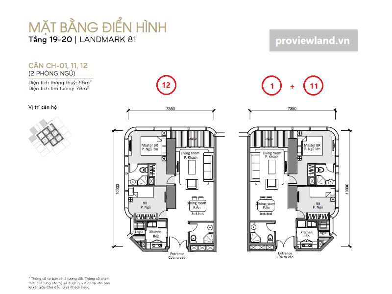 Mat bang VHCP tang 19 va 20