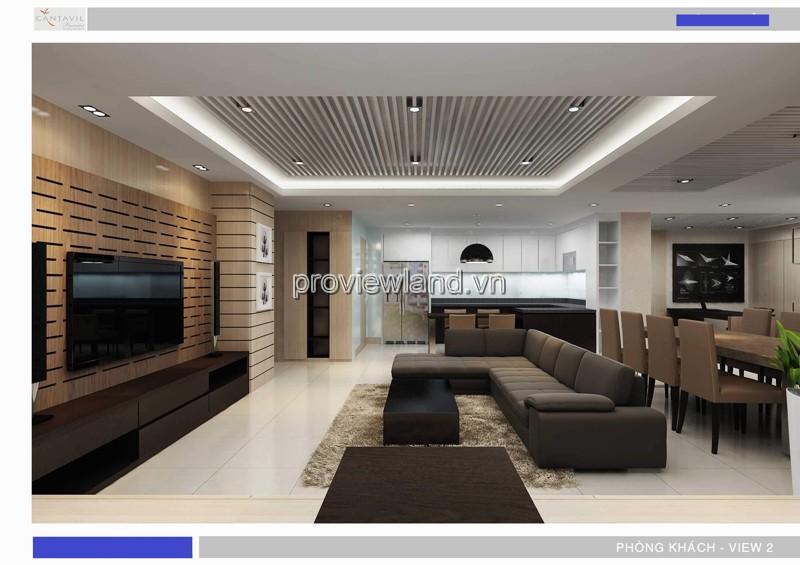Cần cho thuê căn hộ Quận 2 tại Cantavil Premier tầng cao 4PN 176m2