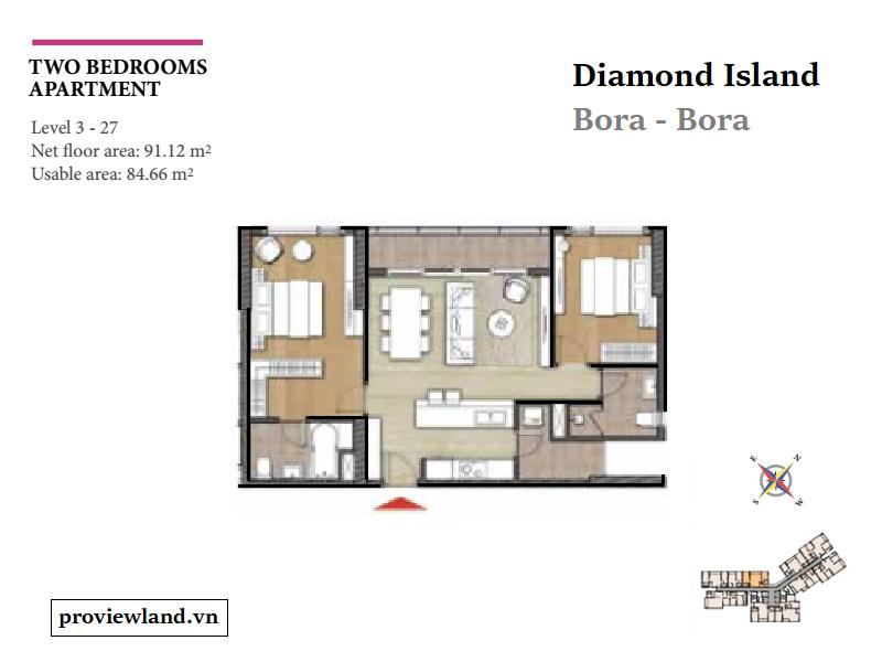 Mat bang can ho 2pn Diamond Island Bora