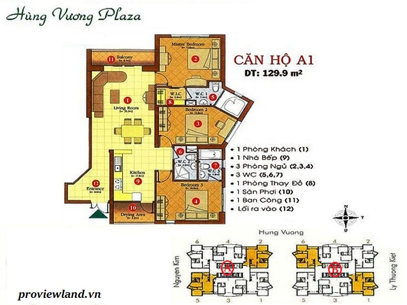 Mat bang can ho 3pn 130m2 Hung Vuong Plaza Quan 5