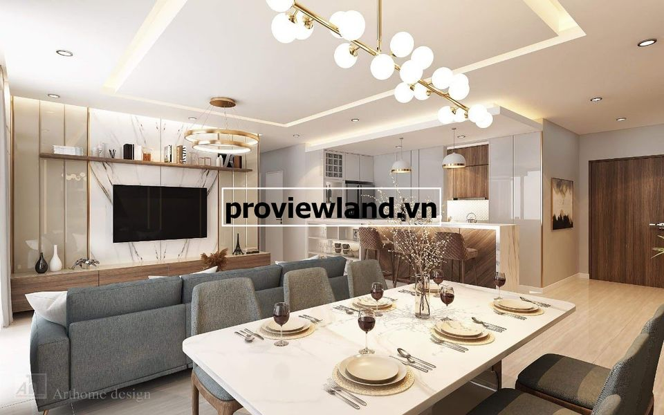 Căn hộ Vista Verde cho thuê 3 phòng ngủ tầng cao