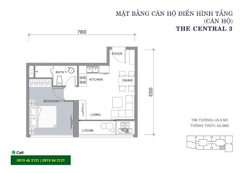 Vinhomes-Central-Park-C3-layout-mat-bang-can-ho-1pn-46m2
