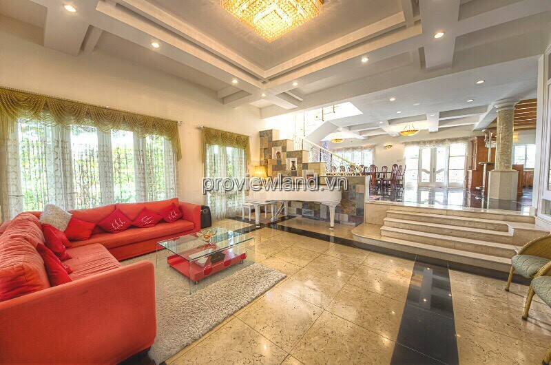 Compound Thao Dien villa for rent area 700m2 7BRs 4 floors