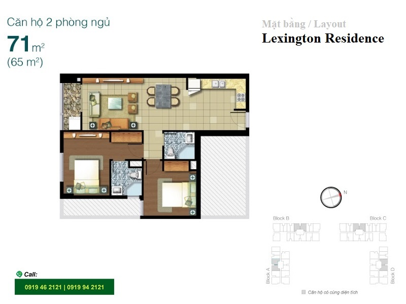 Lexington-Residence-layout-mat-bang-2pn-71m2