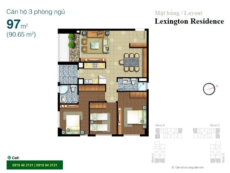 Lexington-Residence-layout-mat-bang-3pn-97m2