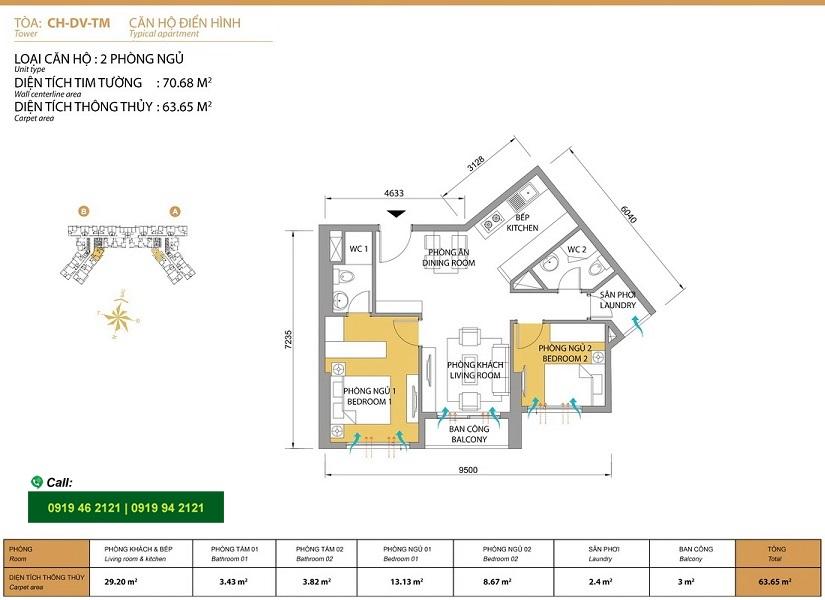 Masteri-Thao-Dien-Mat-bang-layout-T5-2pn-70m2