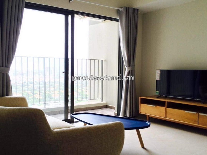 Masteri Thao Dien apartment hights floor T1 tower for rent with 2 bedrooms fully furnished