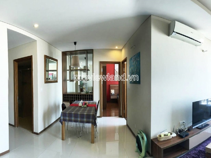 High floor apartment for rent in Thao Dien Pearl Block B includes 2 bedrooms