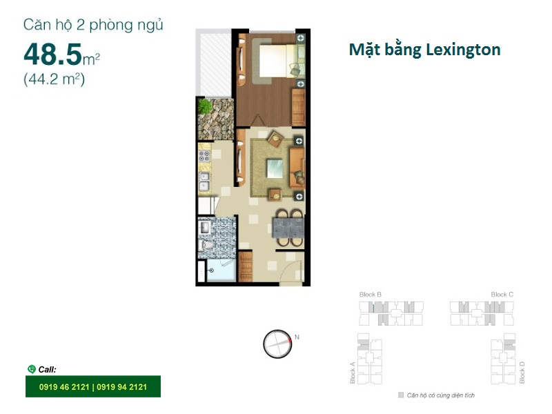 Lexington-Residence-layout-mat-bang-1pn-48m2