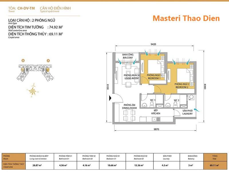 Masteri-Thao-Dien-Mat-bang-layout-T5-2pn-75m2