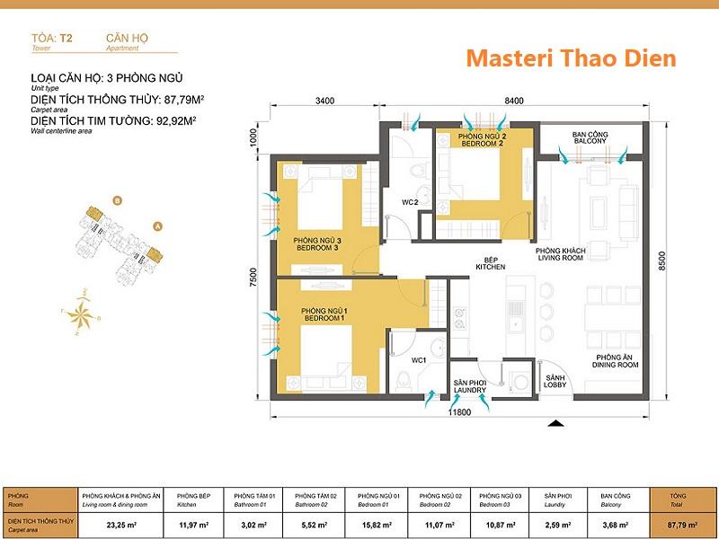Masteri-Thao-Dien-mat-bang-layout-T2-3pn-93m2