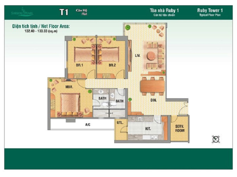 Saigon-Pearl-mat-bang-layout-Ruby1-3pn-134m2