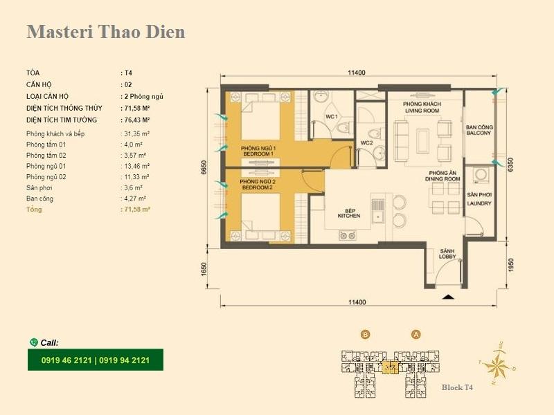 Masteri-Thao-Dien-Mat-bang-layout-T4-02-2pn-76m2-pro