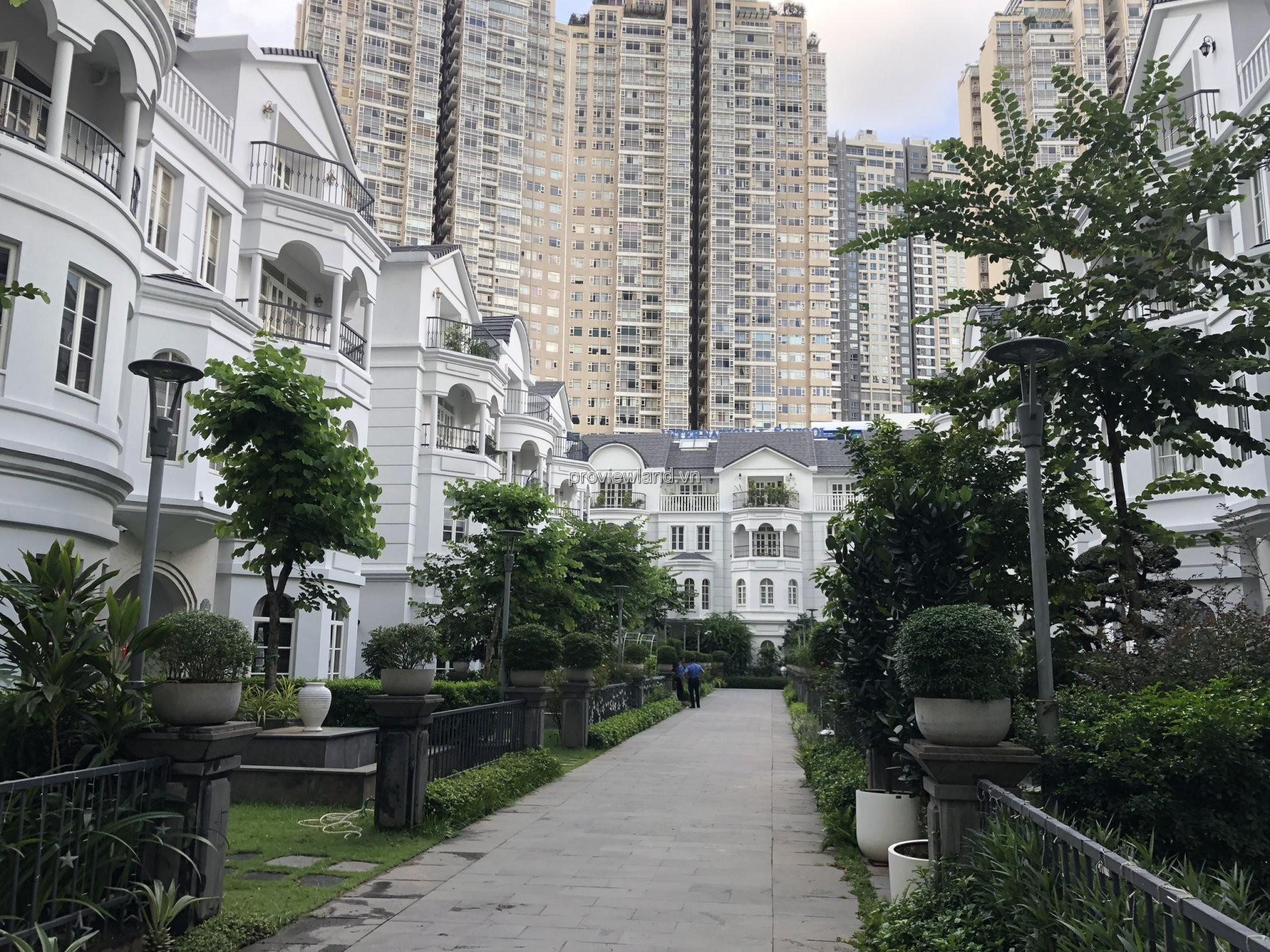 Căn villa Saigon Pearl mặt tiền sông SG có dt 281m2 1 hầm 3 lầu giá CỰC SỐC