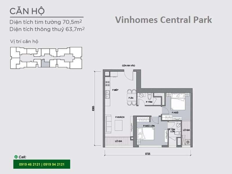 Vinhomes-Central-Park-P1-layout-mat-bang-can-ho-2pn-70m2