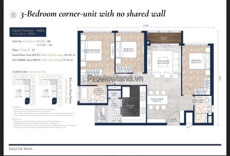Căn hộ Feliz en vista 3 phòng ngủ tầng cao cần bán giá HOT HOT