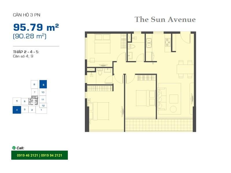 The-sun-avenue-layout-mat-bang-t245-3pn-95m2