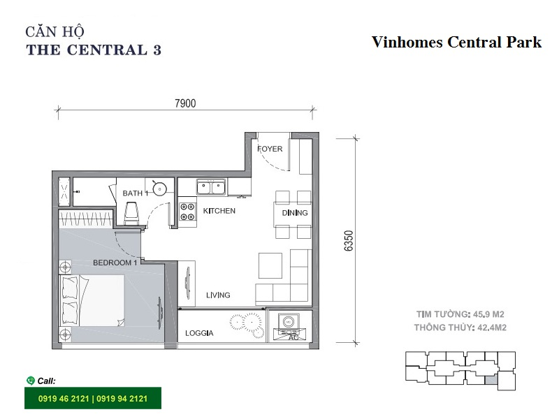 Vinhomes-Central-Park-C3-layout-mat-bang-can-ho-1pn-46m2