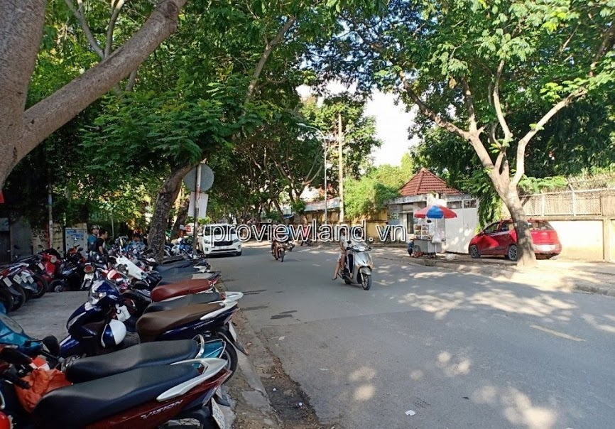 Land for sale in front of Xuan Thuy apartment with gable corner, area 5x36m