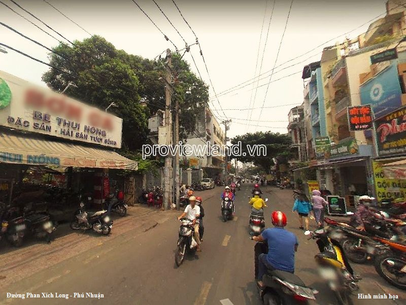 Land at frontage Phan Xich Long Phu Nhuan for sale area of 538m2 width 7m5
