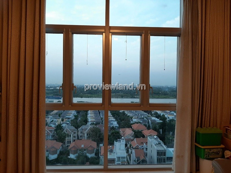 The Vista apartment for rent with 3 bedrooms fully furnished low floor in T3 tower