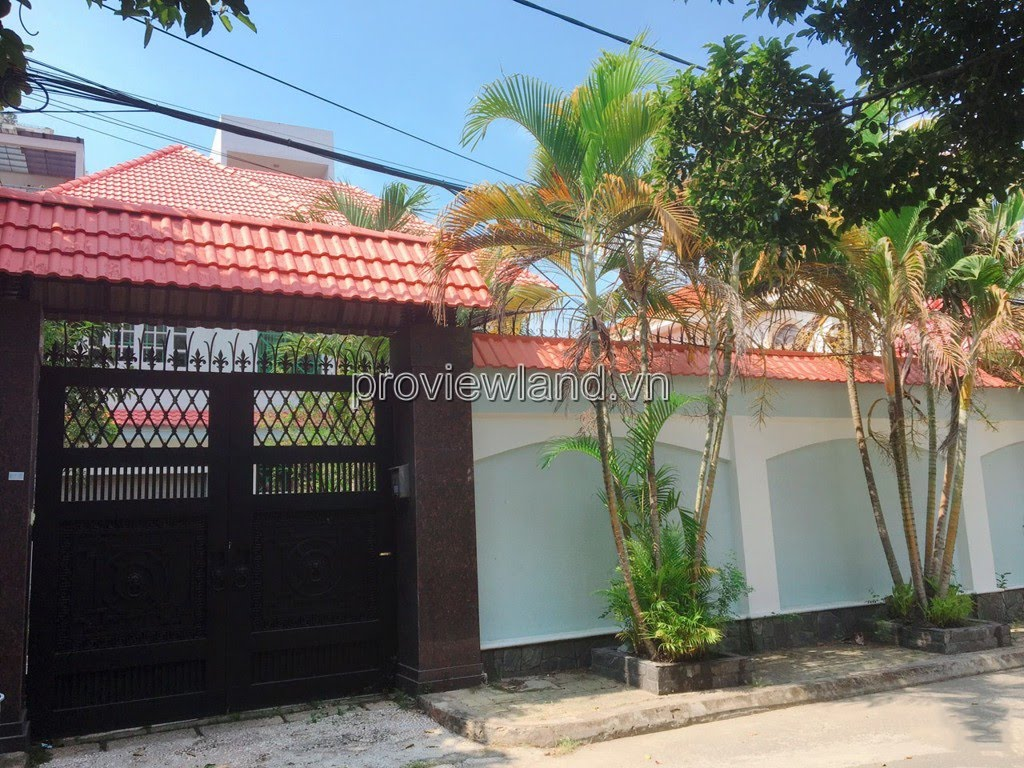 Villa luxury villas in Quoc Huong Thao Dien for sale 400m2 3 floors pool + garden